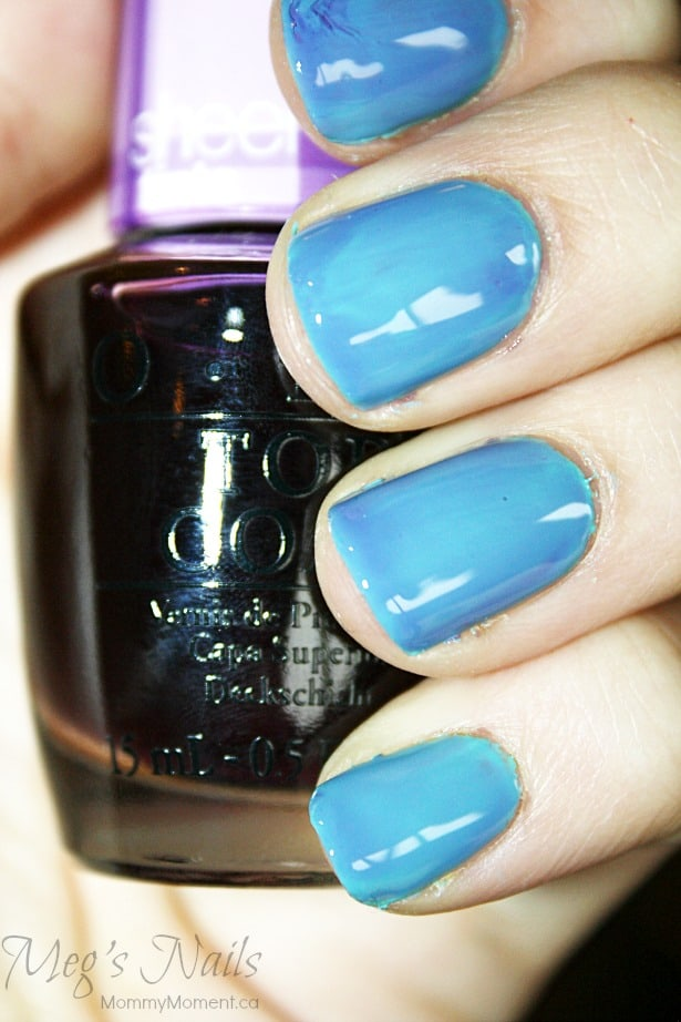 OPI Sheer Tints blue over