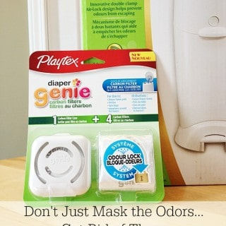 Don't Just Mask the Odors, Get Rid of Them with the Diaper Genie Carbon Filter #MomTrust