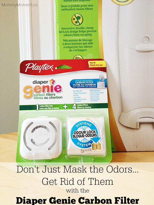 get rid of odors with the diaper genie carbon filter