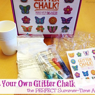 Make Your Own Glitter Chalk ~ the PERFECT Summer-Time Activity #giveaway
