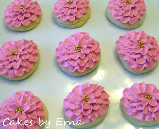 Pink Flower Cookies - Fresh Fruit and Veggie Month