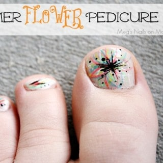 Summer Flower Pedicure