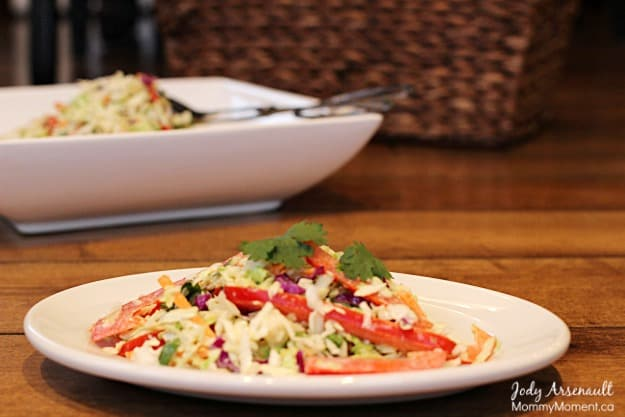 Creamy Asian Slaw - Mommy Moment