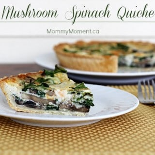 Mushroom Spinach Quiche