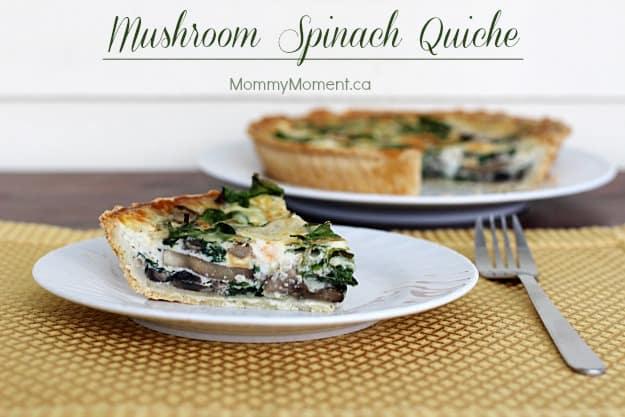 mushroom-spinach-quiche