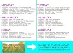 Natural Health Summit Schedule