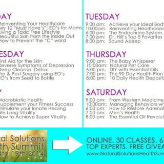 2014 Natural Solutions Health Summit (Free Tickets valued at $99.00)