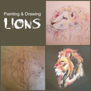 Painting and Drawing Lions