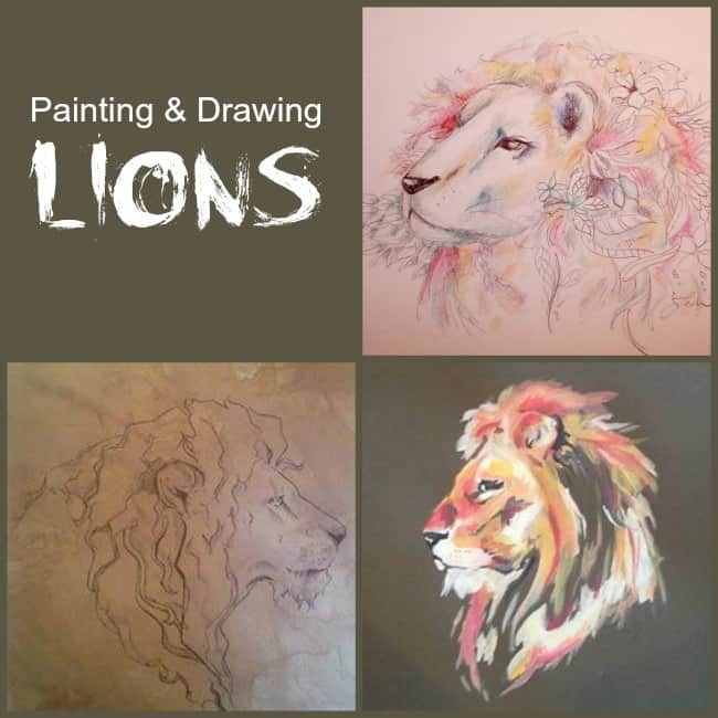 drawing-lions