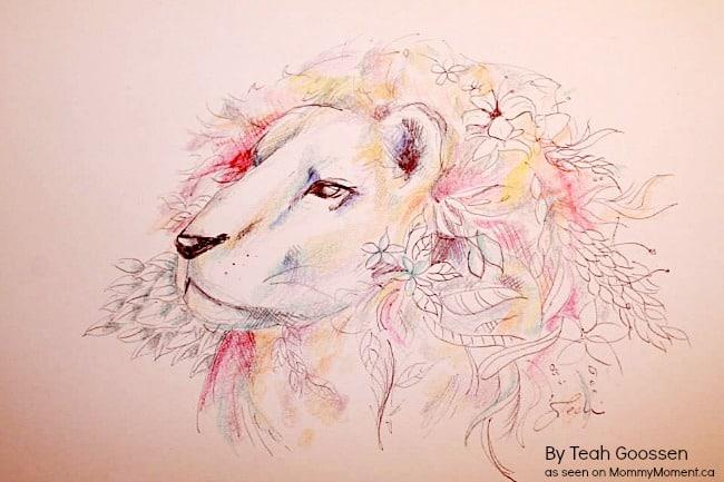 lion-drawing
