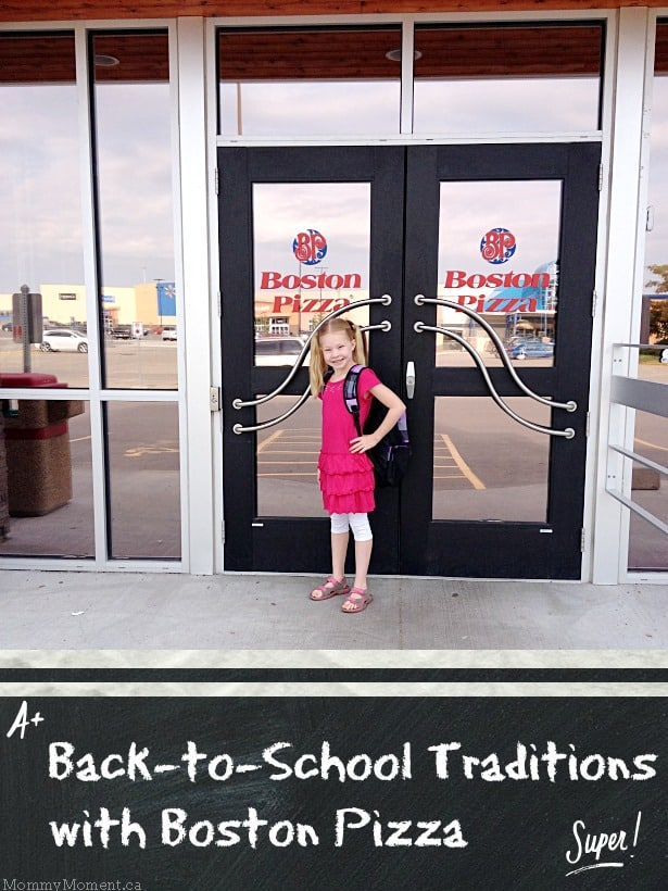 Back to School Traditions with Boston Pizza