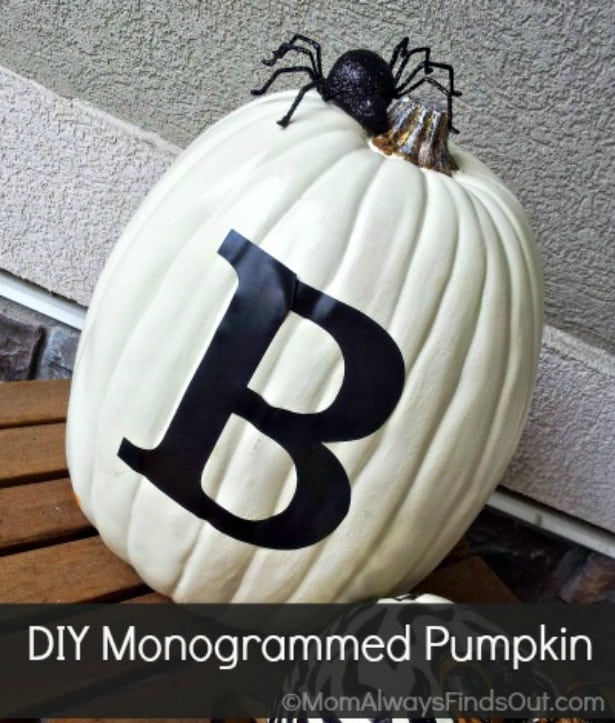 DIY Black and White Pumpkin Decor