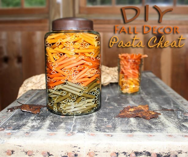 DIY Fall Decor with Pasta