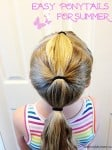 Easy Ponytails for summer