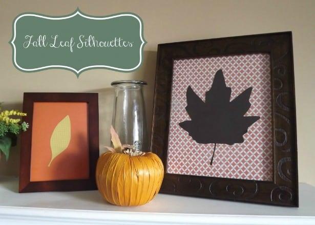 Fall Leaf Silhouettes