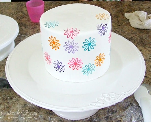 Stamped FLower Cake