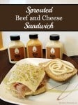 Sprouted Beef and Cheese Sandwich