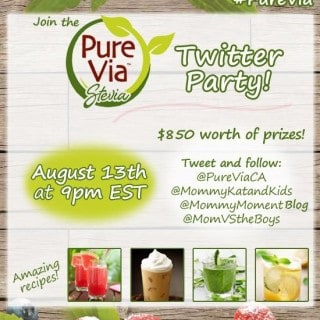 Join the @PureViaCA #PureVia Twitter Party August 13 at 9pm EST