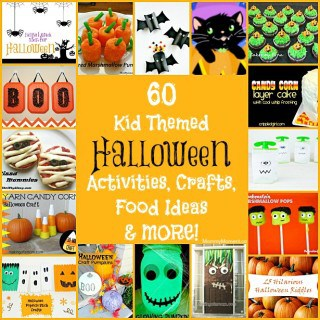 60 Kid Themed Halloween Activities, Crafts, Food & MORE!