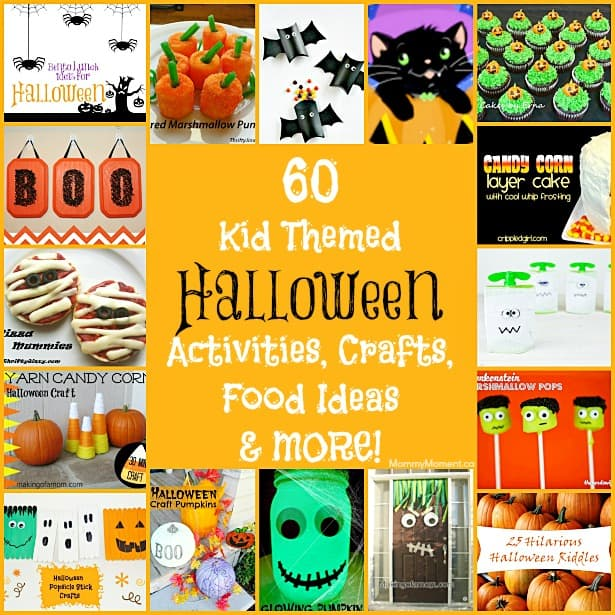 60 kid themed halloween activities crafts food more for Fun kid food crafts