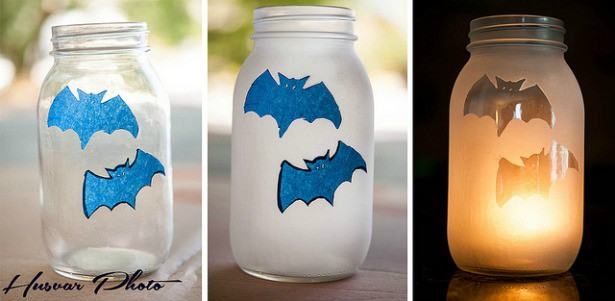 Bat Candle Jars