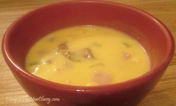 Cheesy Ham and Turkey Soup