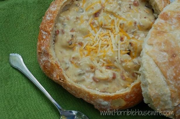 Cheesy Potato & Bacon Soup