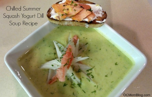 Chilled Summer Squash Yogurt Dill Soup