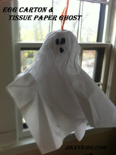 Egg Carton Tissue Paper Ghost