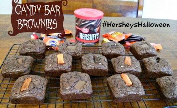 Halloween Candy Bar Brownies