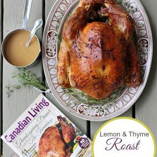 Lemon and Thyme Roast Turkey with White Wine Gravy