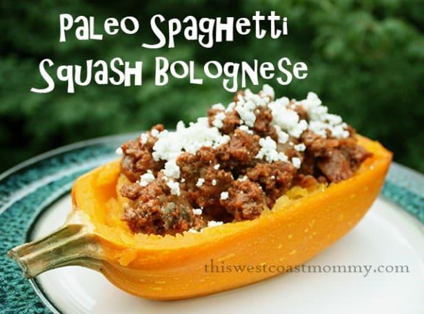 Paleo Spaghetti Squash Bolognese