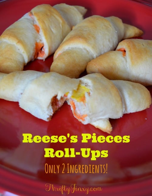 Reeses Pieces Roll Ups