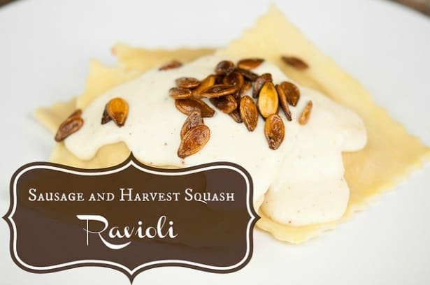 Sausage and Squash Ravioli