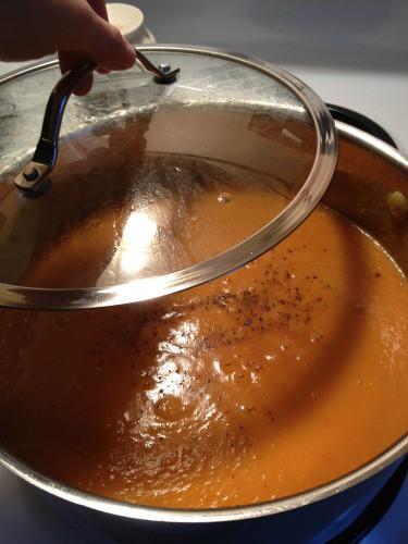 Sweet Potato Salsa Soup