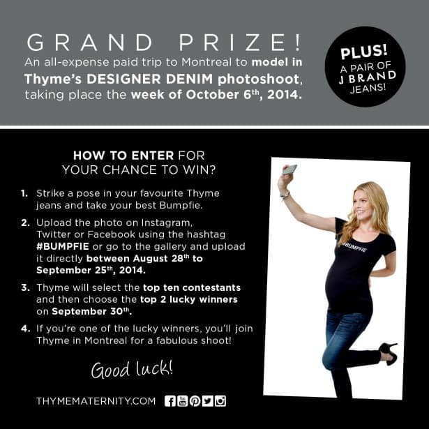 Thyme Maternity Bumpfie Grand Prize