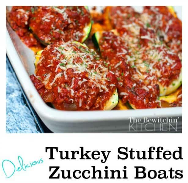 Turkey Stuffed Zucchini Boats