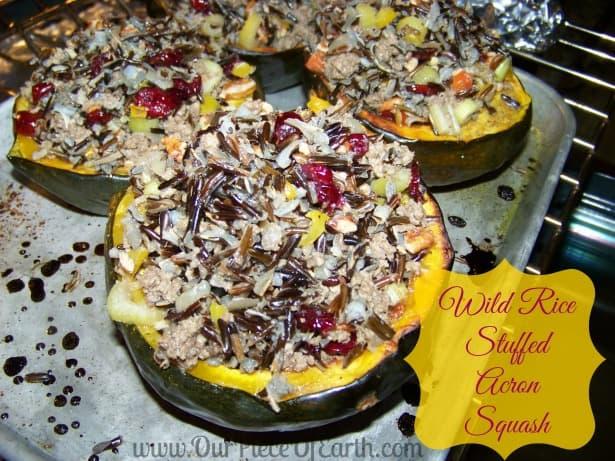 wild rice stuffed acorn squash stuffed acorn squash with wild rice ...