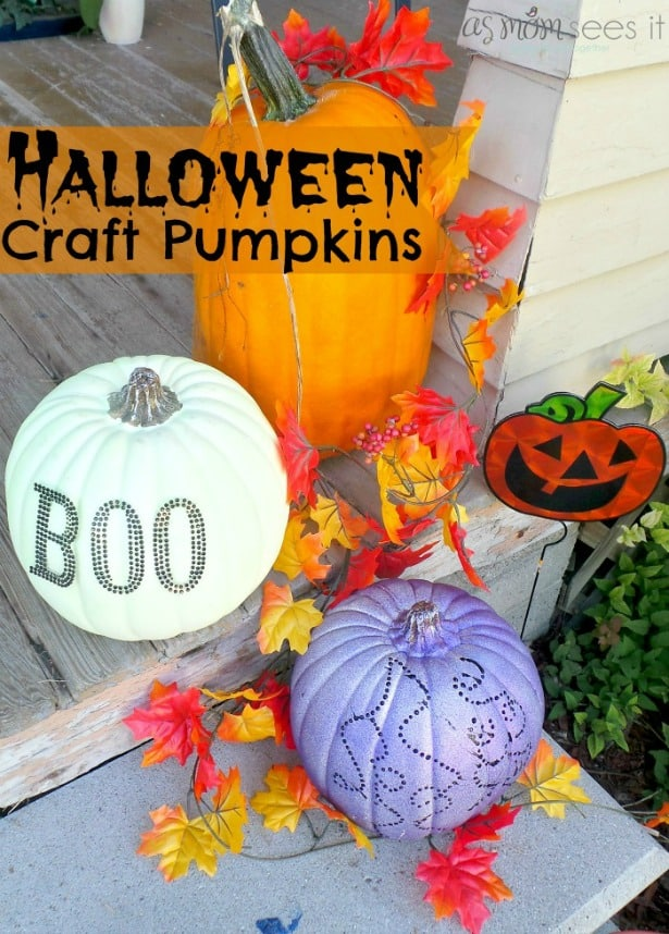 halloween craft pumpkins