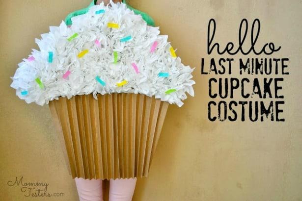 last minute cupcake costume