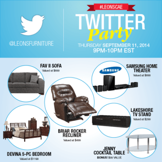 #LeonsCAE Twitter Party September 11 at 9pm EST