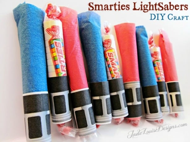 smarties light sabers DIY Craft