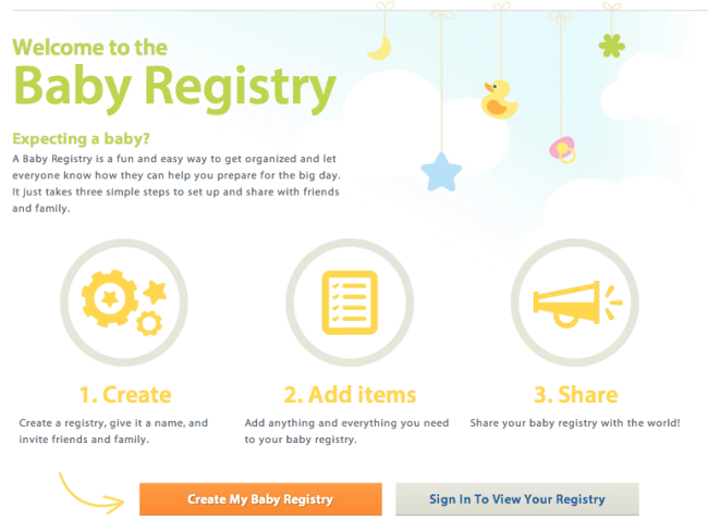 did you create a gift registry when you were expecting what were some