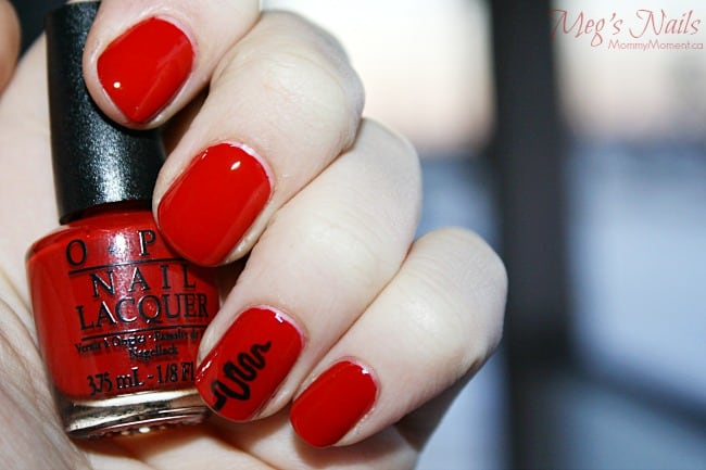 Trend on ten red Christmas nails