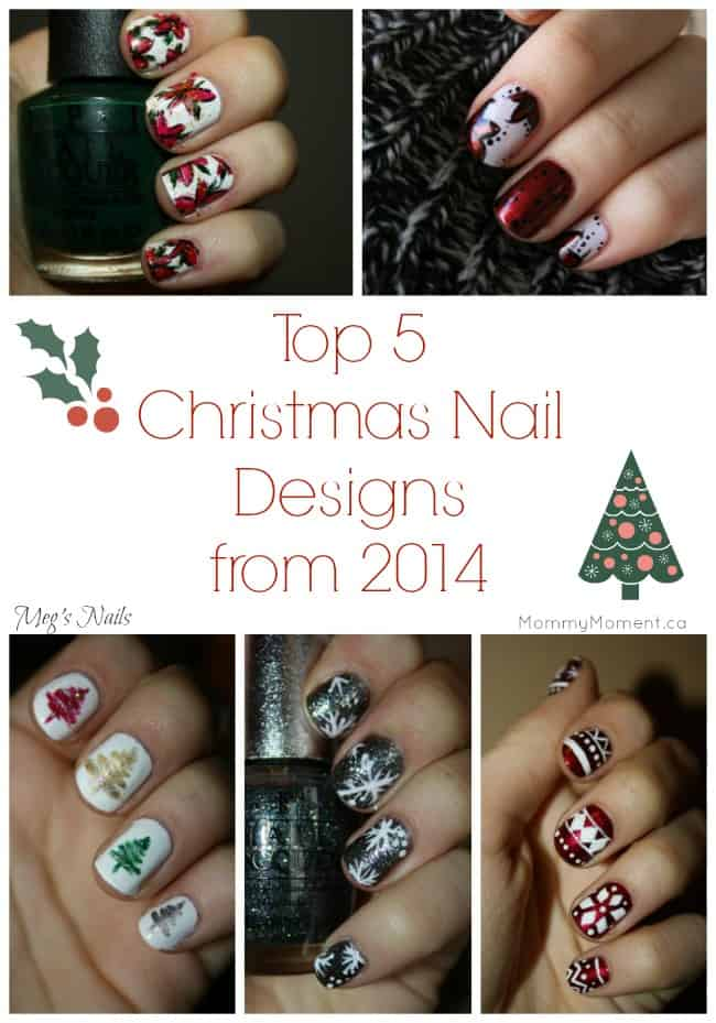 Top 5 Christmas Nail Designs from 2014