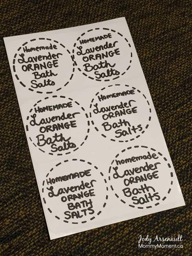 Lavender Bath Salt Label For The Diy Bath Salts Labels