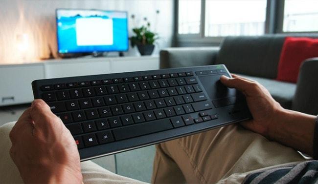 logitech illuminated living room keyboard