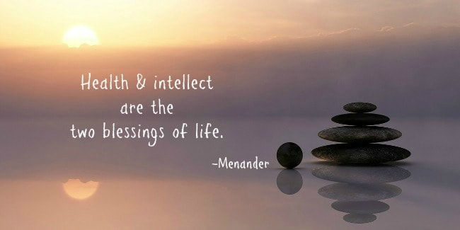 Health and intellect quote