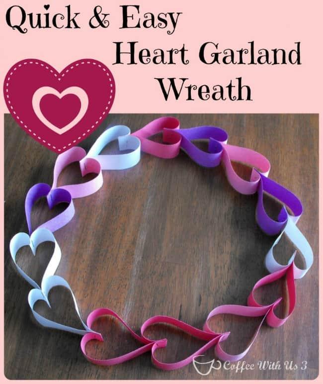 Paper Heart Garland Wreath