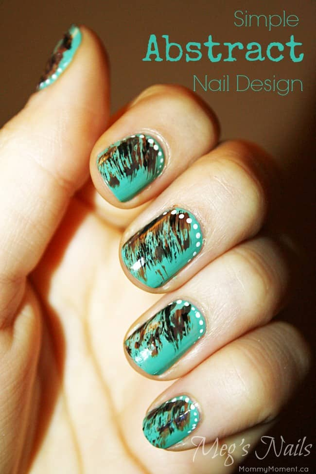 Simple Abstract Nail Design